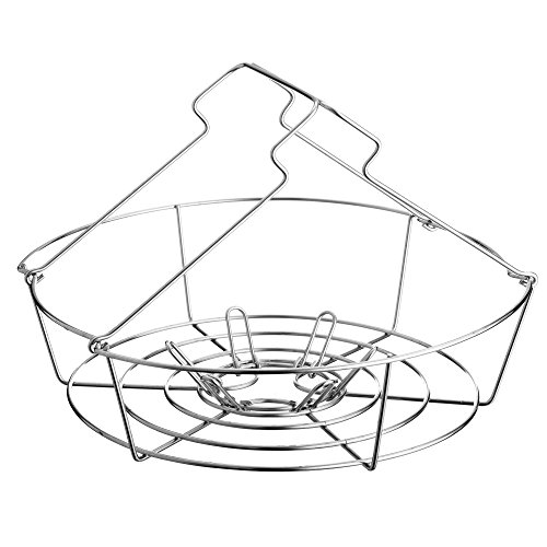 Kilner Canning Pan & Rack Set, Large Stockpot with Glass Lid, Stainless Steel, 4.3 Gallon