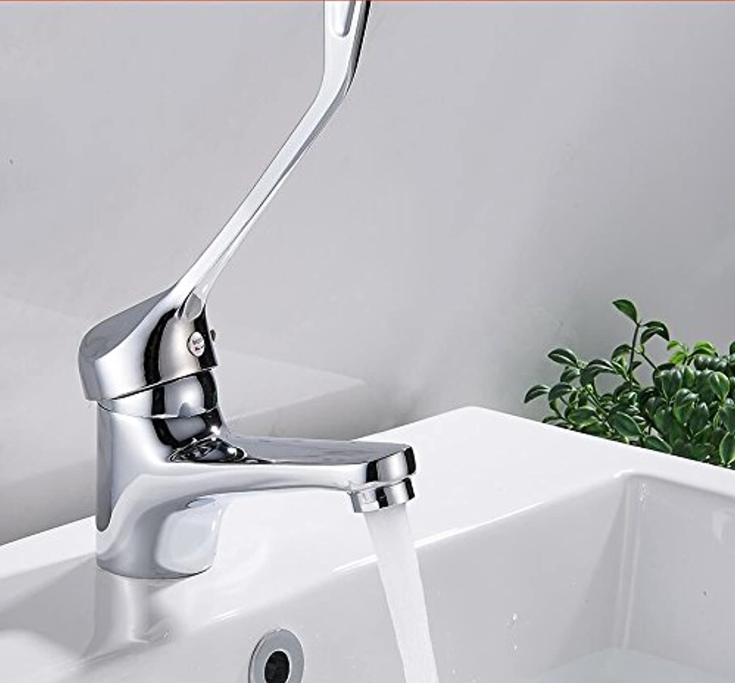 Makej Faucet Waterfall Basin Faucet Kitchen Faucet Cold and Hot Mixer Water Tap Bathroom