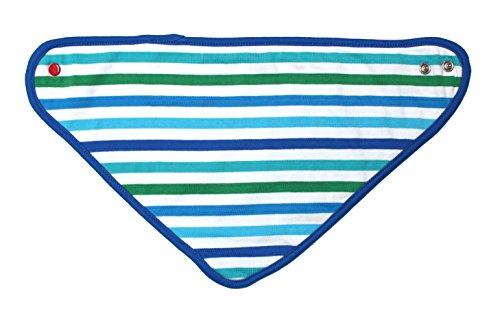 Toby Tiger Carte Motif multicolore 100% coton bio blanc et bleu à rayures Dribble Bavoir