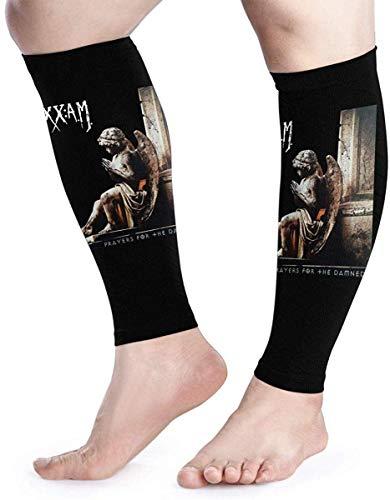 hdyefe Wadenkompressionsärmel Sixx Am Prayers für The Damned Leg Support Socks für Frauen Männer 1 Paar