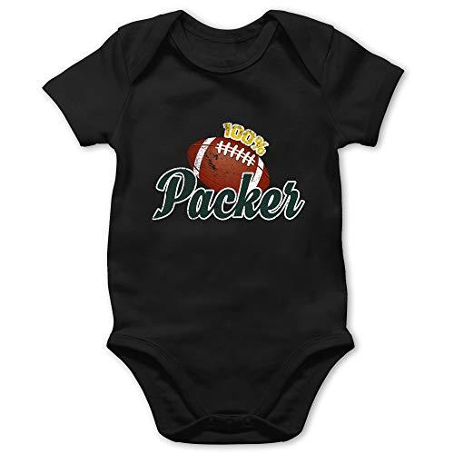 Sport Baby - 100% Packer - 18/24 Monate - Schwarz - Baby Sport Strampler - BZ10 - Baby Body Kurzarm für Jungen und Mädchen