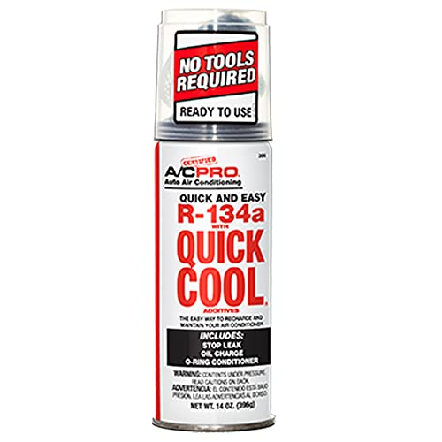 ZeroR R134A Refrigerant for MVAC- in 14oz Self Sealing can - All in one Kit