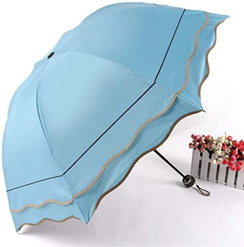 DXZ-Design Paraguas doblado de plástico negro, paraguas doble creativo (color: A, tamaño: 55 CM8K)