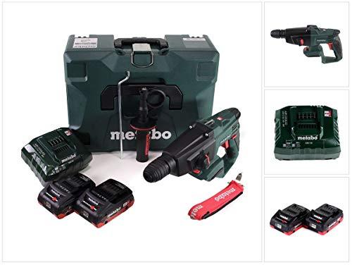 Metabo KHA 18 LTX Akku-Kombihammer SDS-plus 2.2J mit 2x4Ah LiHD und Ladegerät im MetaLoc Koffer mit Bohrerset
