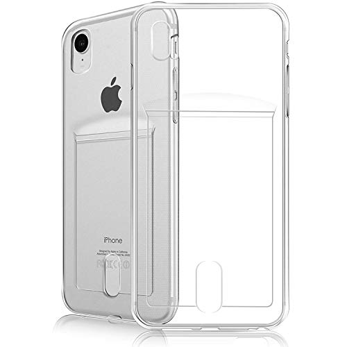 FOGEEK iPhone XR Case Slim Fit Clear Soft TPU Case Cover with Card Slot for iPhone XR (Clear)
