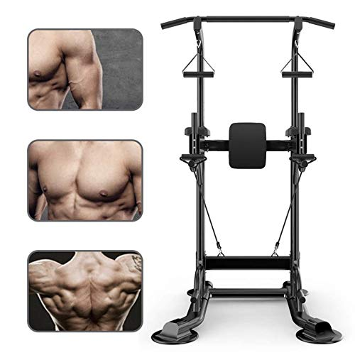 Livebest Power Tower Heavy Duty Adjustable Pull Up Bar Tower Multi-Function Strength Training Dip...