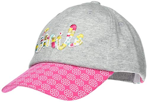 maximo Mädchen Cap Kappe, Mehrfarbig (Graumeliert/Sun Pink 525), (Herstellergröße: 51/53)