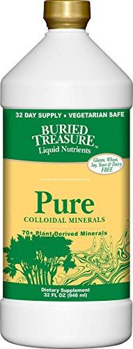 Buried Treasure Pure Colloidal Minerals 70 Plus Plant Derived Minerals from Eden Era Natural Plant Based Nutritional Supplement Liquid Bio-Available for Fast Absorption and Assimilation. 32 oz