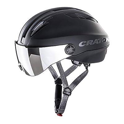 Cratoni Evo - Bicicleta eléctrica (57-61 cm, incluye cinta de seguridad RennMaxe, para jóvenes y adultos