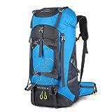 Dehikewell Hiking Backpack, 60L Large Rucksack for Men Women Waterproof Lightweight Daypack Ideal for Camping Trekking Travel(Blue)