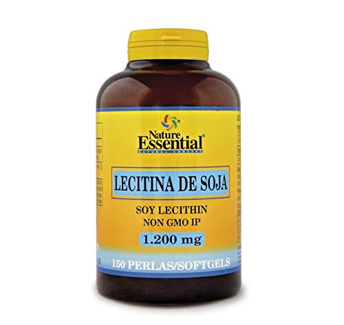 NATURE ESSENTIAL | Lecitina de Soja 1200 mg | 150 Perlas