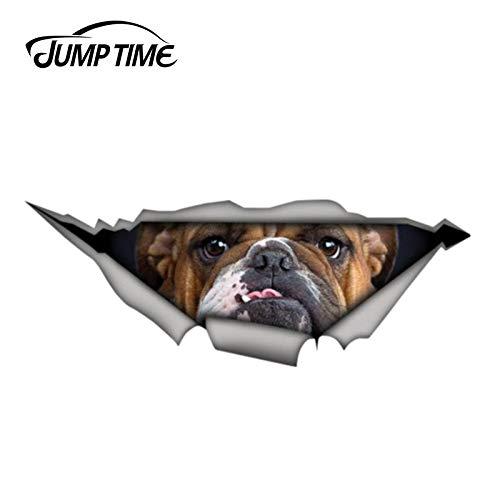 A/X Sticker de Carro 13 cm 4,8 cm Bulldog Pegatina de Metal Rasgado calcomanía de Animales Salvajes Divertidas Pegatinas de Coche 3D Estilo de Coche Parachoques de Ventana