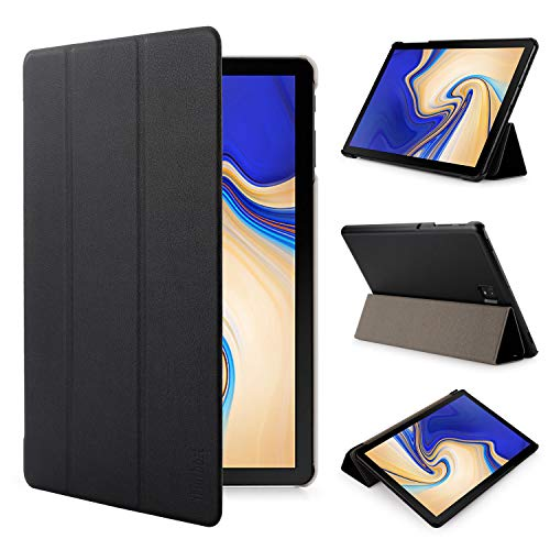 iHarbort Samsung Galaxy Tab S4 10.5 pollice custodia in pelle Cover (Pubblicato 2018 SM-T830N T835N) - ultra sottile di peso leggero Case custodia in pelle con il sonn/sveglia la funzione, nero