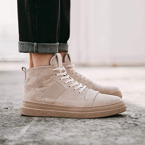Shukun Heren laarzen High-Top Schoenen Katoen Zachte onderkant Casual Schoenen In Het Midden Van De Skateboard Schoenen Pu Martin Laarzen