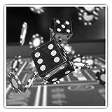 Impresionantes pegatinas cuadradas (juego de 2) 10 cm BW – Dados Game Casino Chips Divertidas calcomanías para portátiles, tabletas, equipaje, reserva de chatarras, neveras, regalo genial #36762