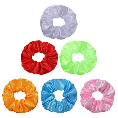 Minkissy - 6 piezas de mechones de pelo con luz LED, bandas elásticas para el pelo, cuerdas para el pelo, accesorios para mujeres y niñas