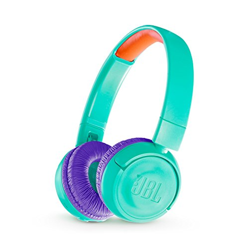 JBL JR 300BT Kids On-Ear Wireless Headphones w/ Safe Sound Technology - Teal