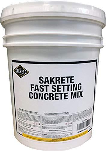 Fast Setting Concrete Mix, Pail, 50 lb.