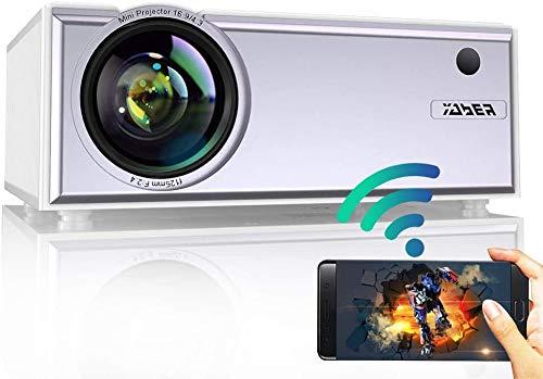 Vidéoprojecteur WiFi, YABER 5800 Lumens Mini Projecteur Portable...
