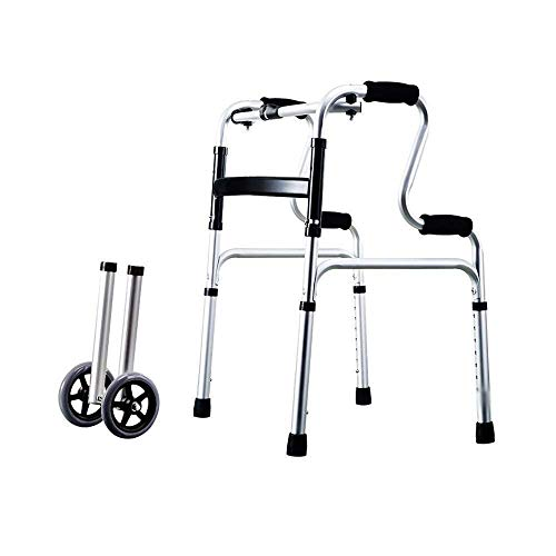HEZHANG Walker para Personas Mayores Rollator Ancianos Walker- Arriba Y Abajo Escaleras Caminante Ligero Ligero Movilidad Ajustable Mobility Ayuda-Retractable Caña de Cuatro Puntas,B
