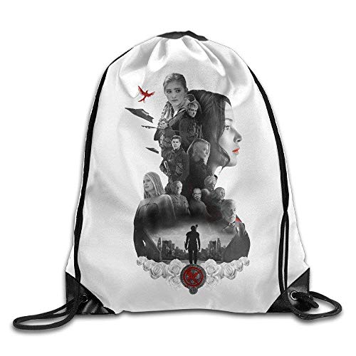 SOOPTY Creative Design The Hunger Games Mockingjay Movie Drawstring Backpack for Men and Women