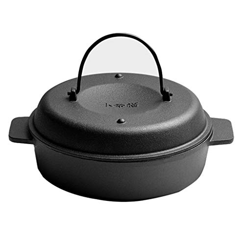 FCSFSF No-Palo,Arrabio Roaster Pan con Tapa,Multi-propósito Sartenes para Saltear para Verduras De Pollo Asadas Batata Maíz Olla B Diámetro:31cm