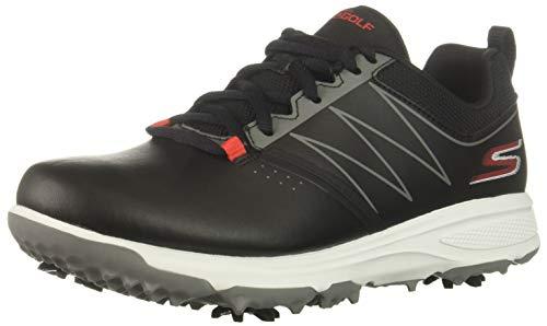 Skechers Blaster Zapato de golf para niños, Negro (Negro/Rojo), 38 EU