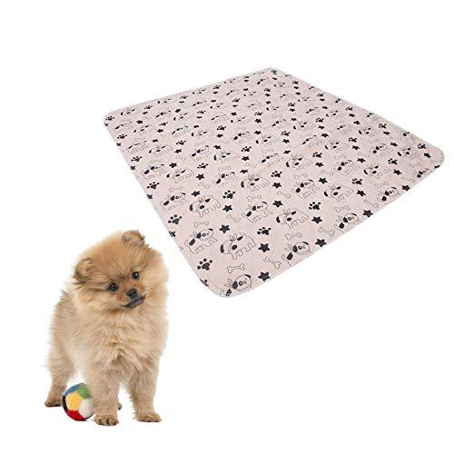 Pet Pee Pad Haustierunterlage, 3 Größen, Wiederverwendbar Trainingsunterlagen Hundematte Trainingsmatten Welpe Waschbare Welpenunterlage Saugfähig Puppy Trainings Pads für Hunde und Katzen,70x80cm