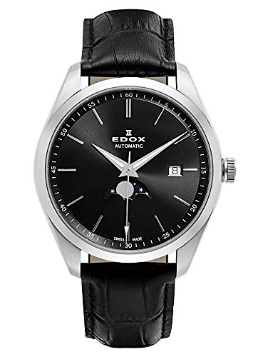 EDOX herenhorloge Les Vauberts maanfase datum analoog 80505 3 NIN