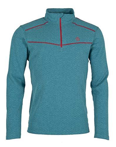 Ternua Camiseta Talok 1/2 Zip M Hombre, Pagoda Blue, XXL