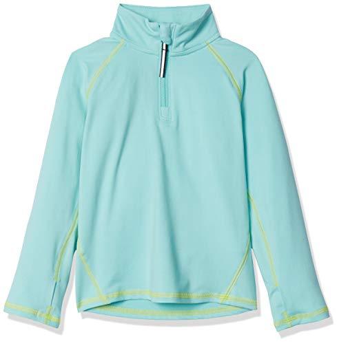 Amazon Essentials Jacke für Mädchen, mit halblangem Reißverschluss, Aqua, US XS (EU 104-110 CM)