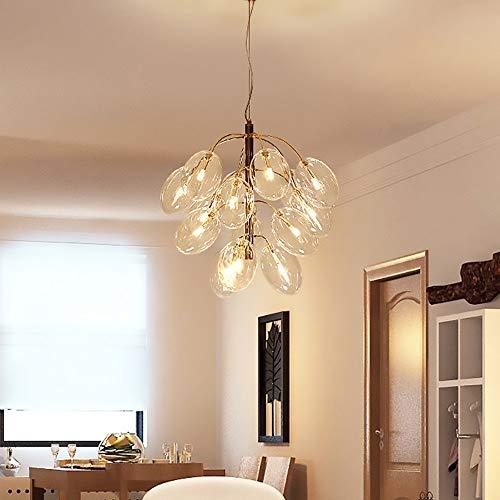 Yangmanini Postmoderno Minimalista Cristal UVA Diseño De Iluminación Decorativo Burbuja Creativa Bola De Cristal Sala De Estar Comedor Araña