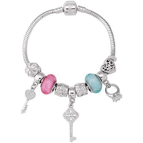 Sataanreaper Presents Silber Überzogenes Aluminium Und Kristall-Armband Für Frauen Und Mädchen (Green_28.22 GMS) #Sr-2279