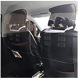 JCJ Plexiglass Protection pour Voiture/Véhicule/Taxi, Pexiglace Protection pour Covoiturage et Chauffeurs de Taxi - Transparent, 23.6×23.6in