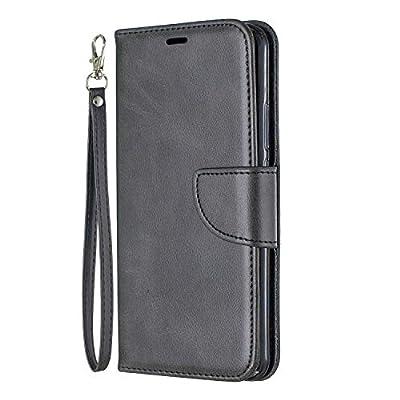 Lomogo Huawei Nova 3i / P Smart+ (2018) Case Leather Wallet Case with Kickstand Card Holder Shockproof Flip Case Cover for Huawei Nova3i/P Smart Plus - LOBFE150301 Black