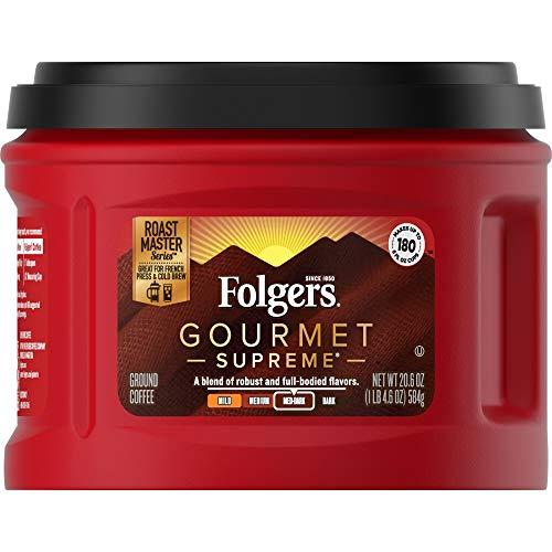 Folgers Gourmet Supreme Medium Dark Roast Ground Coffee, 24.2 Ounces