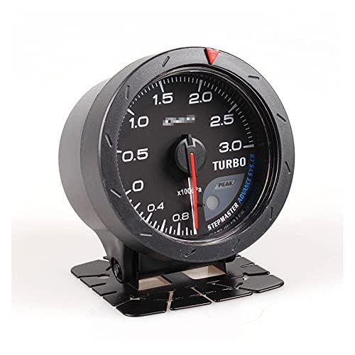 HUIHUI Store Avance CR 2.5 Pulgadas 60 mm 7 Colores 0-3 Bar Turbo Boost Auto Calibre automático con Sensor electrónico
