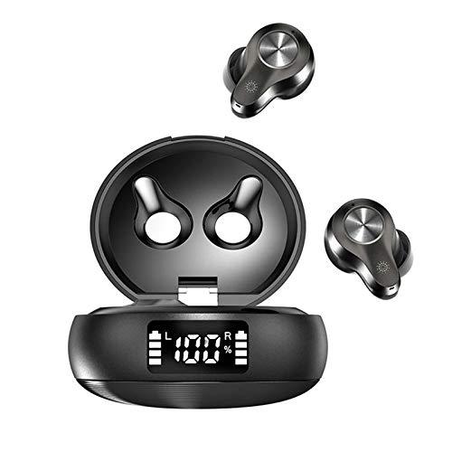 FiGi Q9 Bluetooth kopfhörer Sport,Hi-Fi Stereo So& Wireless kopfhörer mit Mikrofon, 5.2 Bluetooth Kopfhörer In Ear, Qualcomm 3040,Smart LCD Digitalanzeige Ladekoffer, APTX, wasserdichte IP67