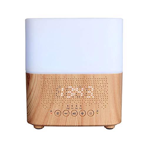 MHBY Difusor de Aroma, difusor de Aceite Esencial de aromaterapia Bluetooth Inteligente atomizador ultrasónico con Reloj Despertador con Pantalla de Tiempo de Altavoz