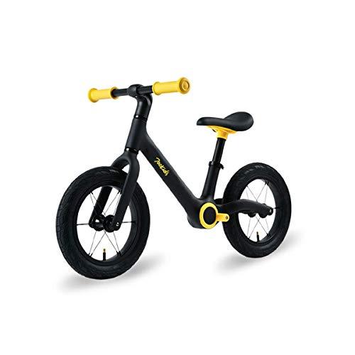 Bicicletta Senza Pedali per Bambini per 2-6 Anni Balance Bike con Equilibrio Altezza Regolabile e Sedile Regolabili Pedali In Sicuro Freno per Bambini e Ragazzi Biciclette(Giallo)
