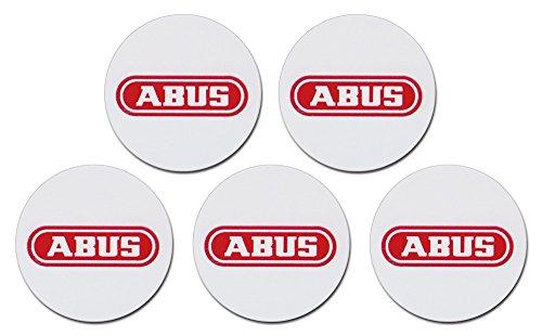 ABUS AZ5502 tarjeta de acceso Proximity chip sticker - Tarjetas de acceso (25 mm, 0,5 mm, Proximity chip sticker, Rojo, Blanco, 5 pieza(s))
