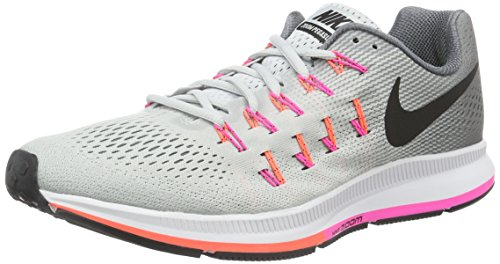 Nike Damen Air Zoom Pegasus 33 Laufschuhe, Grau (Pure Platinum/Black-Cool Grey-Pink Blast), 35.5 EU