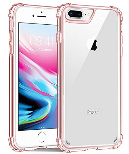 iPhone 8 Plus Case,iPhone 7 Plus Case, iPhone 6S Plus/6 Plus Case,UZER Transparent Shock-Absorption Bumper [Crystal Clear] and Anti-Scratch Back Cover Case for iPhone 8 Plus/7 Plus/6S Plus/6 Plus 5.5'