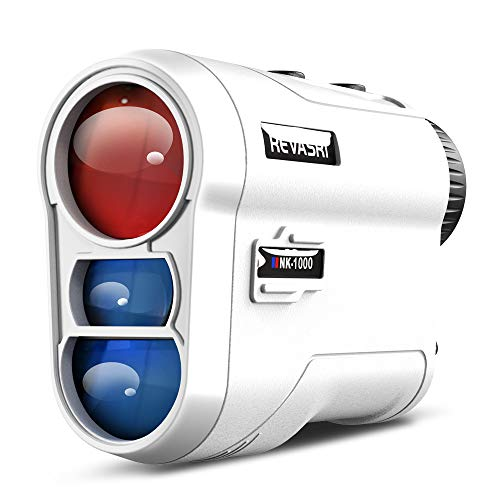 Golf Rangefinder with Slope and Flag Pole Locking Vibration, Gifts for Golfers, Physical Slope Switch for Golf Tournament Legal, Rangefinders with Rechargeable Battery 1000Y Laser Range Finder