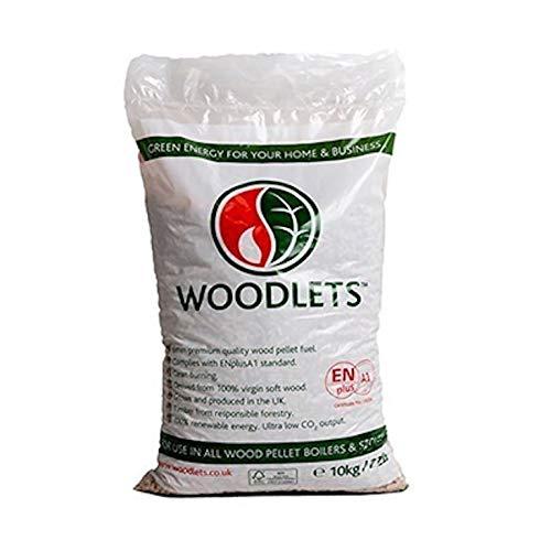 Homefire Renewable Energy Wood Burner Wood Pellets, 10kg - Low VAT 5%