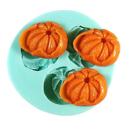 junengSO El Mango, 3D Naranja Jabón Vela Peonías Molde de Arcilla Molde de Silicona para decoración de Pasteles