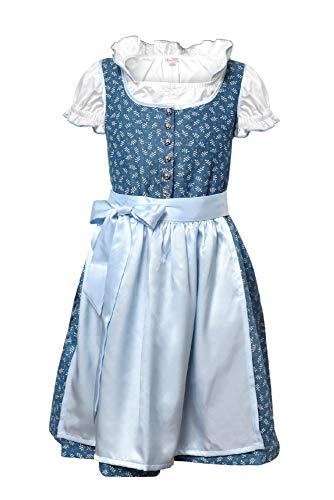 La-V Mädchen Dirndl 3tlg Pastellblau/Größe 146