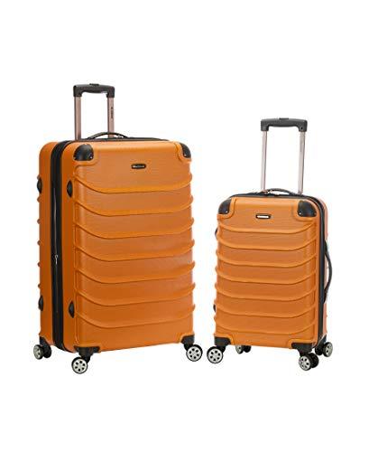 Rockland Speciale Hardside 2-Piece Expandable Spinner Luggage Set, Orange, (20/28)