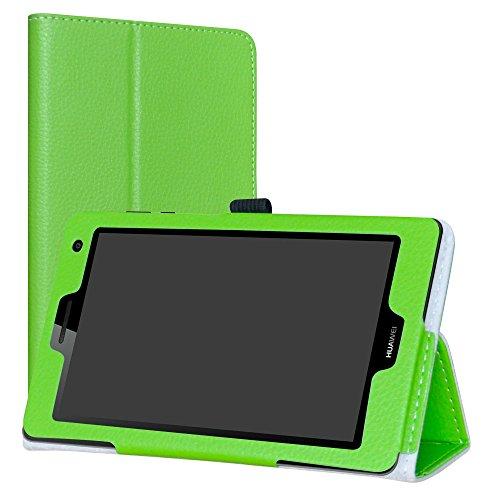 Labanema Huawei Mediapad T3 7 3G Custodia, PU Pelle Slim Flip Case Cover Protettiva Pieghevole Stand per 7  Huawei Mediapad T3 3G Tablet - Verde
