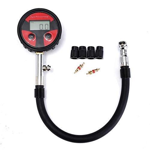 Neumático digital LCD medidor de presión 360 grados giratorio tubo de 230 mm para automóvil, motocicleta, camión